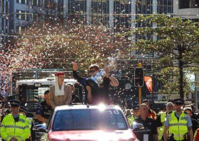 Confetti at Americas Cup Parade Wellington Photo: Lloyd Burr/Newshub
