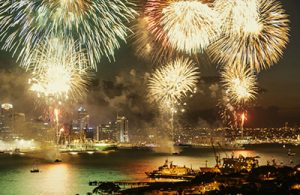 Firework Professionals Ltd fireworks display in Auckland Harbour