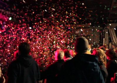 Confetti cannons at Firework Professionals' warehouse party