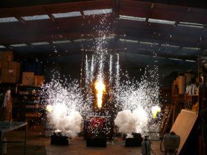 Indoor fireworks training