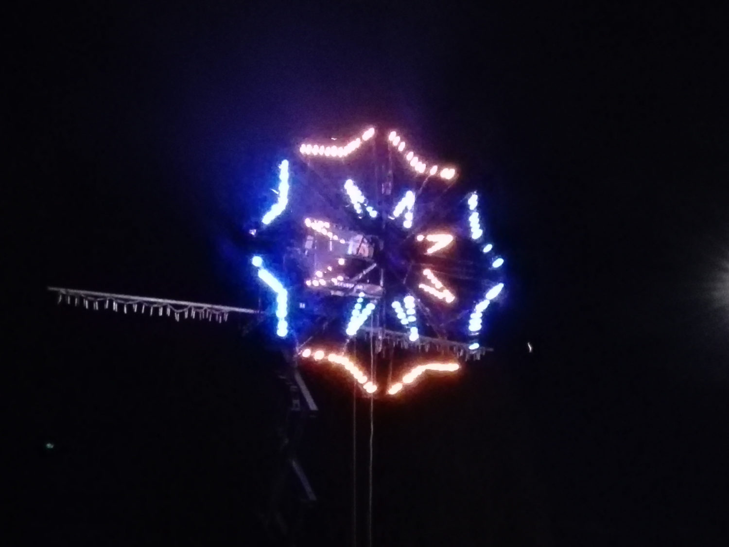 fireworks wheel at kidsfest 2017