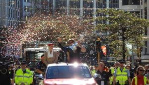 FPL Confetti at New Zealand America's Cup parade