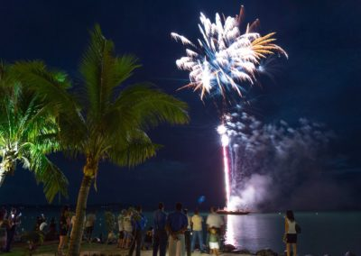 Fiji fireworks display