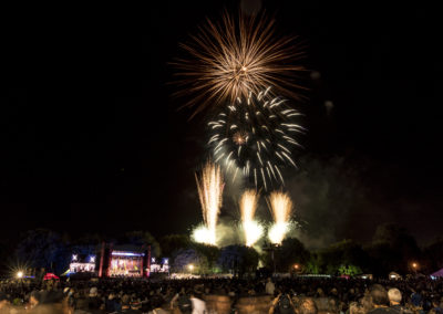 Spark layered fireworks