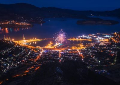 Fireworks at Lyttelton Harbour - Photo Dice Sales Photography