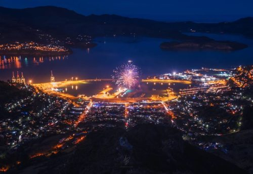 Fireworks from Lyttelton to Hannover