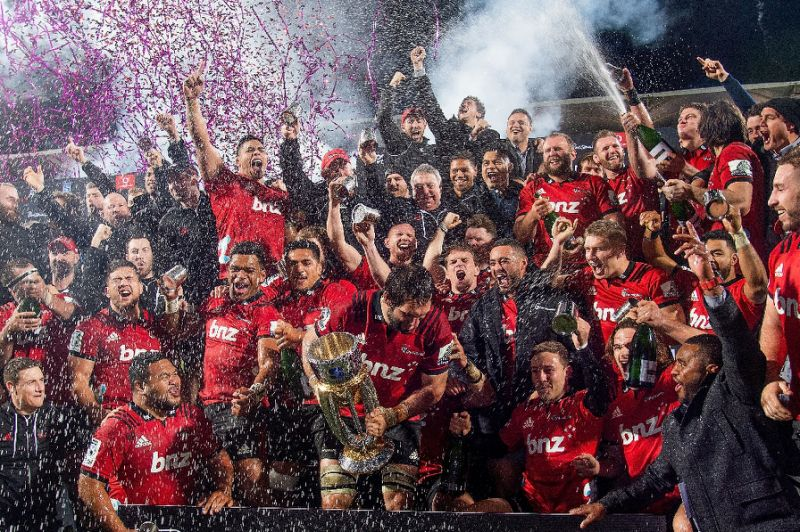 Fireworks for Canterbury Crusaders Super Rugby Win