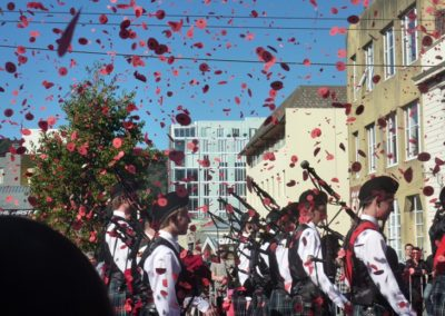 ANZAC poppy confetti in Wellington