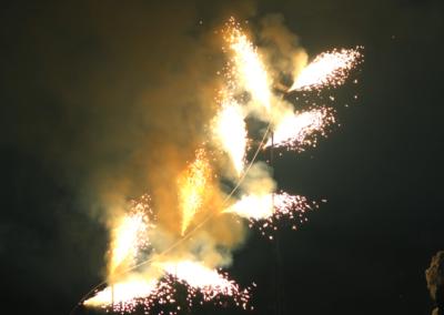 Fountain sculptre fireworks